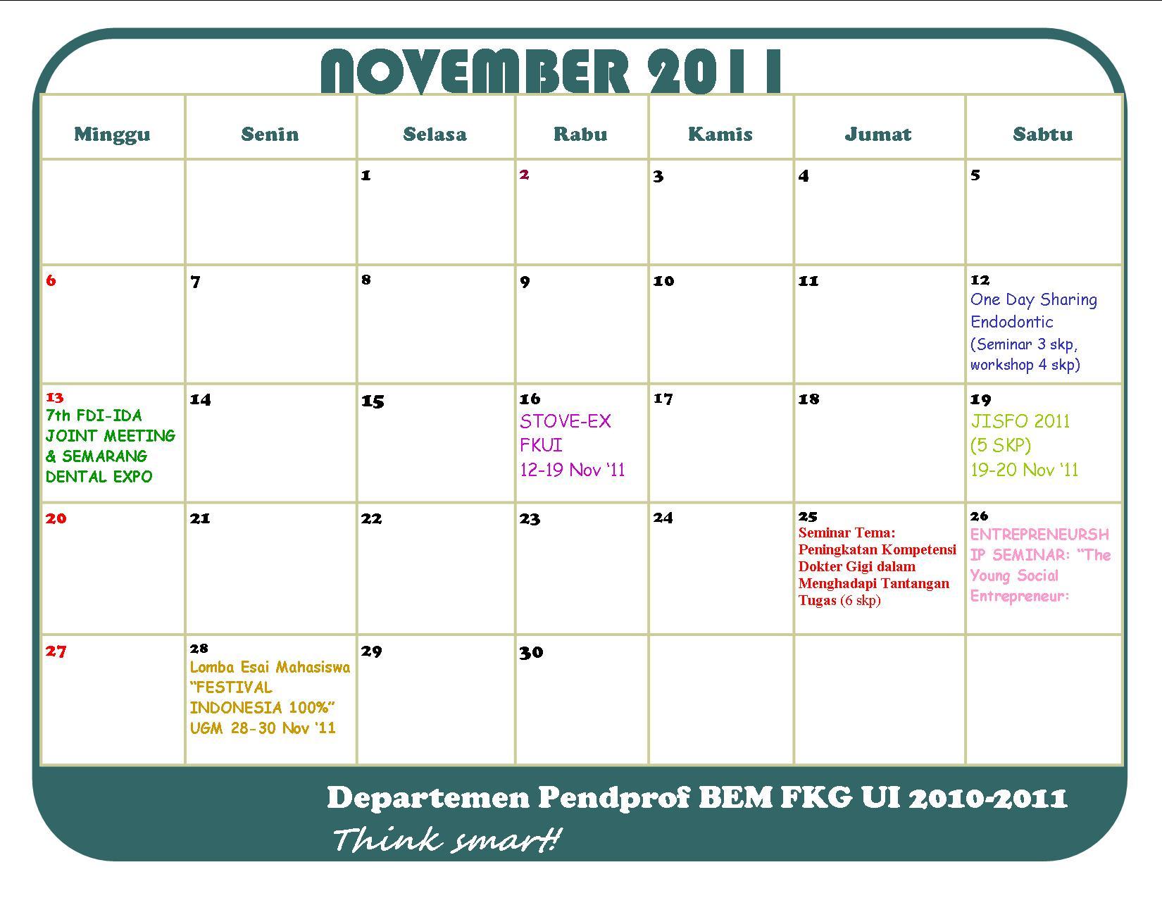 Bulan 2011 P-cab Bulan November 2011